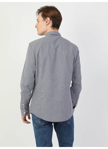 Colin's Slim Fit Erkek Uzun Kol Gömlek Lacivert